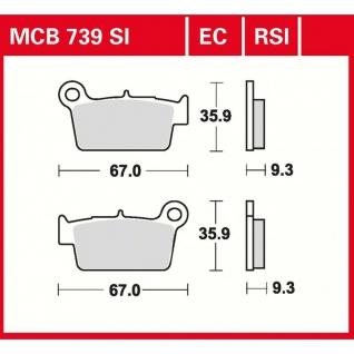 MCB739SI Bremsbelag Aprilia Beta Bimota CCM GasGas Kawasaki Suzuki Sherco TM Yamaha - Vorschau