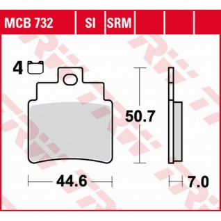 MCB732SRM Bremsbelag 250 Grand Dink S4 SYM GTS Firenze Bolwell Joymax