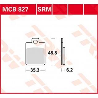 MCB827SRM Bremsbelag Gilera Piaggio Vespa