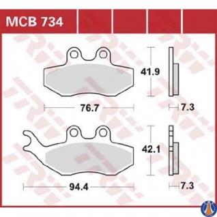 MCB734EC Bremsbelag BMW Husaberg Husqvarna KTM Rieju Sherco TM