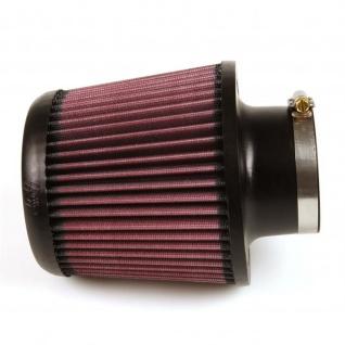 K&N Universalluftfilter X-Stream-Luftfilter - 76 mm Anschluss, Ø 140 mm unten, Ø 127 mm Deckel, 140 mm hoch, Typ mittig