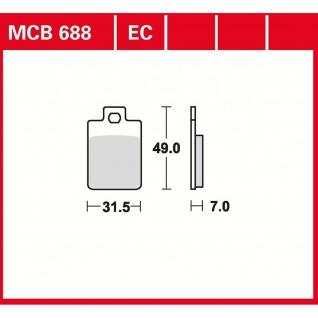 MCB688SR Bremsbelag