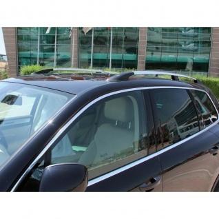Dachrelinge VW Touareg Baujahr 2002 - 2010 Aluminium in Chrom-Optik mit TÜV und ABE