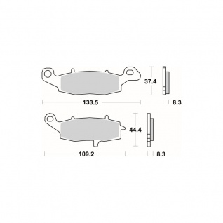 Bremsbelag SBS 705HF Street Ceramic Kawasaki ER 5 6 GPZ 1100 KLR 650 Versys VN Zephyr Suzuki Bandit V-Storm Intruder Gladius - Vorschau 2