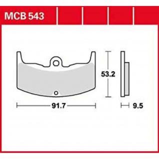 MCB543 Bremsbelag Honda CBX 400 CBX 550 82-87