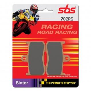 Bremsbelag SBS 782RS Road Racing Sintermetall Kawasaki Z1000 Z800 ZX-9R Suzuki B-King Tiumph Datona Speed Triple Tiger