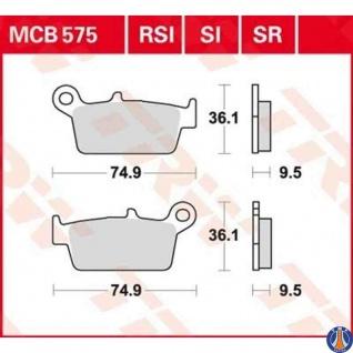 MCB575RSI Bremsbelag Bimoto CPI Fantic Gas Gas HM Honda Husqvarna Kawasaki Suzuki TM Yamaha