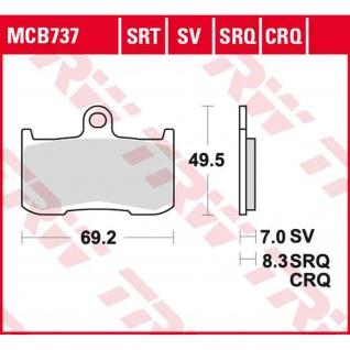 MCB737CRQ Bremsbelag Kawasaki 900 ZX-9R - Ninja ZX900E(E, F) 02-04 Triumph 1050 Speed Triple 515NJ 05-07 vorne