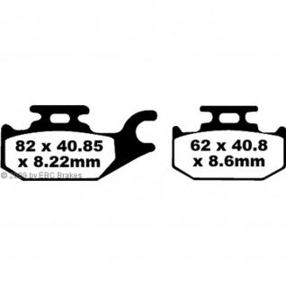 Goldstuff Bremsbeläge FA413R für Suzuki