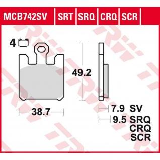 MCB742CRQ Bremsbelag