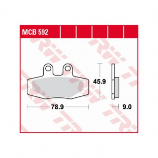 MCB592 Bremsbelag KTM 125 MX 250 350 500 exc 600 LC4 88-91