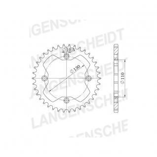 RFE1350-39 Supersprox Stahl schwarz Honda TRX 250 TRX 250 R TRX300 TRX400 TRX450 R