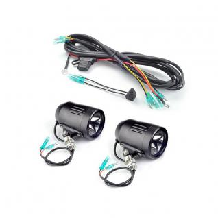 LED Kit Two Black 60mm LED Lights with 3/8 inch post mounts. Includes wire harness