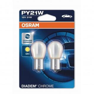 Osram PY21W 12V 21W Diadem Chrome 2 Stück Blister