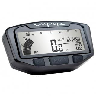 TrailTech Vapor, Digitaltacho mit Drehzahlmesser schwarz Fin Sensor Yamaha WR450F WR250F/YZ250FX YZ450FX 12-18
