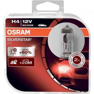 SILVERSTAR® 2.0 H4 Duobox H4 ECE 12 Volt 60/55 Watt P43t Sockel Abblendlicht/Fernlicht
