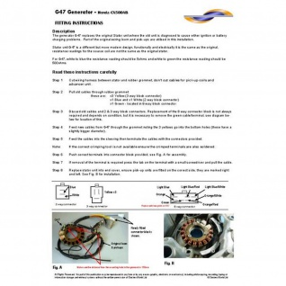 Lichtmaschine G47 Generator Honda CBR400 VF 400 VS Intruder Marauder FZS600 Fazer YZF600R Thunder Cat SZR660 31120-KE7-004 31120-KE7-014 31120-MN4-004 32101-45C00 31120-MJ8-014 - Vorschau 2