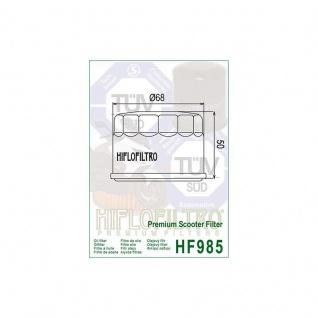 HF985 Ölfilter Kymco Xciting Myroad Yamaha XP500 XP 530 OEM 1541A-LBA2-E00 5DM-13440-00