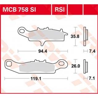 Mcb758rsi Bremsbelag Kawasaki Kfx 450 Sf450b 07 - - Vorschau
