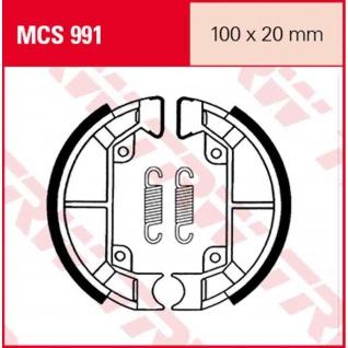 MCS991 Bremsbacken 100x20 Vespa Piaggio Quartz 50