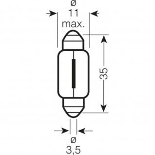 Osram Original C5W 12V 5W 36mm Doppelblister 6418-02B ECE C5W 12 Volt 5 Watt Schlusslicht/Kennzeichen