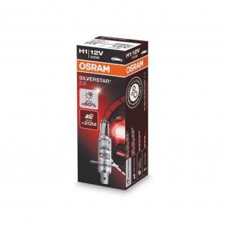 NIGHT BREAKER® SILVER H1 Faltschachtel ECE 12 Volt 55 Watt P14.5s Sockel Abblendlicht/Fernlicht/Nebellicht