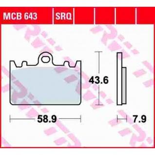 MCB643SRQ Bremsbelag ZXR - L ZX400L 91-03 vorne