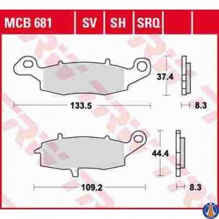 MCB681SV Bremsbelag Kawasaki Suzuki
