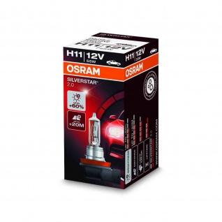 SILVERSTAR® 2.0 H11 Faltschachtel H11 ECE 12 Volt 55 Watt PGJ19-2 Sockel Abblendlicht/Fernlicht/Nebellicht
