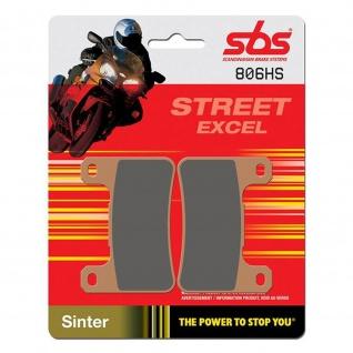 Bremsbelag SBS 806HS Streetexcel Sintermetall Kawasaki Z 1000 ZX SUZUKI GSX-R M R Intruder M109R