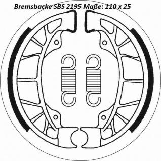Bremsbacke SBS 2195 Maße: 110 x 25 Gilera Piaggio Vespa