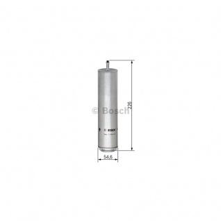 Bosch Benzinfilter Kraftstofffilter Ford Leitungsfilter, Ø 89 mm, D1 80 mm, D2 26 mm, D3 10 mm, Höhe 201 mm, Höhe 1 161 mm