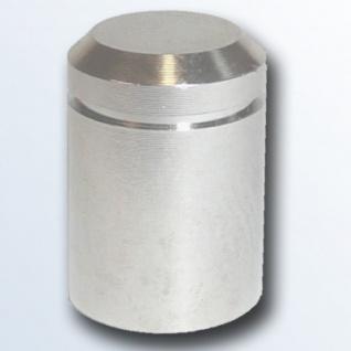Stahlbus Abdeckkappe Chrom eloxierten Aluminium Groove - Alu vernickelt