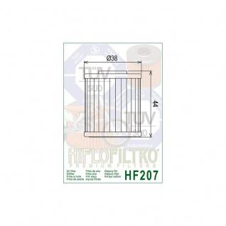 Hf207 Oilfilter Kawasaki Kxf 250 450 Suzuki Fl125 Address Rmz Beta Lml Scooter 15.26060.000 52010-0001 16510-35g00 K5201-00001 - Vorschau 2
