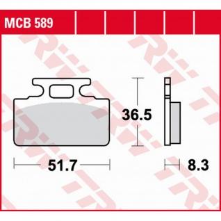 MCB589 Bremsbelag Honda ZB NH NS RS 50 80 125 250 Sym Cinderella DD Jolie Mio Pure Tonik Ariba