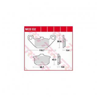 MCB532 Bremsbelag Kawasaki Eliminator EN GPZ VN ZX GTR VN Vulcan
