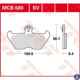 MCB680SV Bremsbelag BMW 850 1000 1100 1200