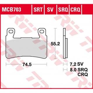 MCB703 Bremsbelag Honda 1300CB - FSC54 03-04 vorne Hyosung 125 250 300 650 700 ST GD GT GV