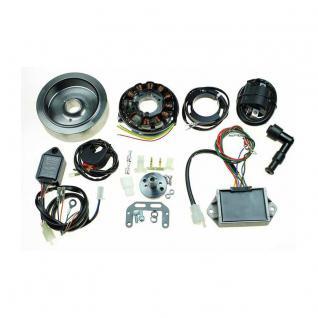 STK-164 12 Volt Wide Case Ducati Singles self - Generating Digital CDI Ignition + Alternator 120w Kit