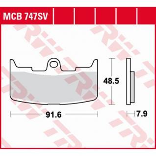 MCB747SV Bremsbelag Sinter Buell XB12 XBR9 Firebolt Lightning Ulysses