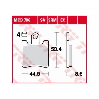 MCB706SRM Bremsbelag Daelim Otello Freewing B-Bone Sym GTS Joymax Kawasaki Epsilon Suzuki Burgman