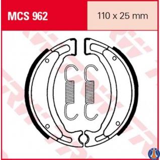 MCS962 Bremsbacken Adly (Her Chee) ATU Barossa/SMC Beeline Benelli Beta Buffalo (Her Chee) CPI Derbi Kreidler Malaguti MBK Keeway Husqvarna Yamaha TGB