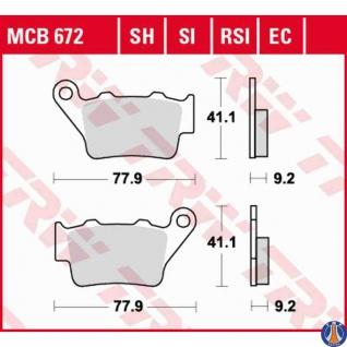 MCB672SI Bremsbelag Alfer Benelli CCM Gas Gas Highkand Husaberg Husqvarna Kram-It KTM Maico TM VOR Yamaha