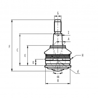 Kugelkopf Frap Ball Joint AFM Houser Honda - Outer 35.5MM OEM 21P00500PH 132123