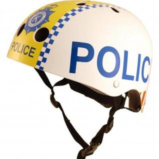 Kiddimoto Helm Police Polizei Größe M - 53-58 cm, geprüft nach EC EN1078