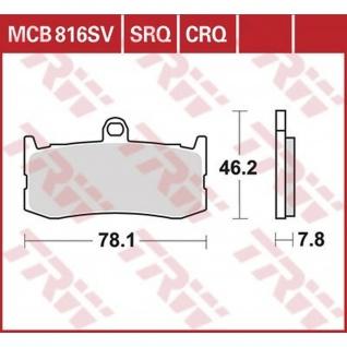 MCB816SRQ Bremsbelag