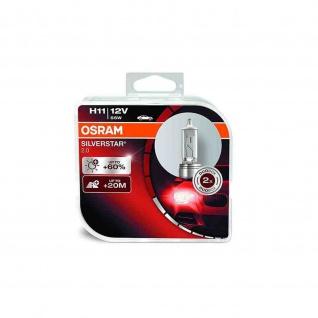 SILVERSTAR® 2.0 H11 Duobox H11 ECE 12 Volt 55 Watt PGJ19-2 Sockel Abblendlicht/Fernlicht/Nebellicht