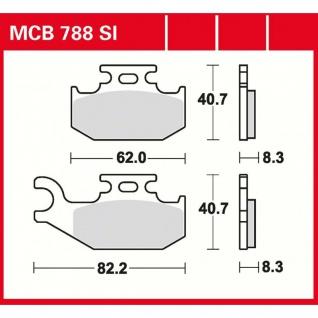 MCB788SI Bremsbelag Suzuki King Quad 400 450 500 700 750