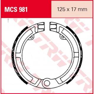 Mcs981 Bremsbacken 125x17 Piaggio 50 Ape 80 Vespa 50 N Pk - S, Xl Va5, V5x Vespa 80 Pk - Vorschau