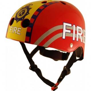 Kiddimoto Helm Fire Feuerwehr Größe S - 48-53 cm, geprüft nach EC EN1078